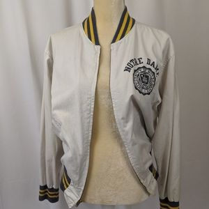 Vtg 50s Rare Notre Dame Zip Up Jacket by Champion